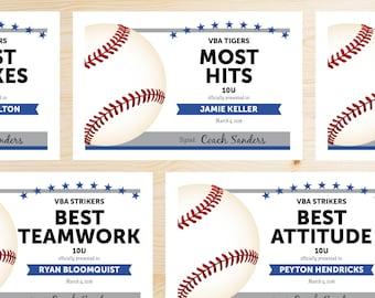 editable baseball award certificates instant download printable