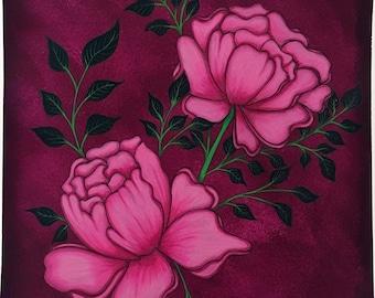 Peony Floral Art Print