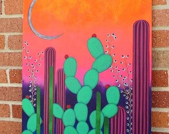 Crystal Desert Original Acrylic Painting