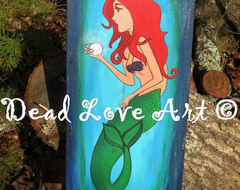 Fay of the Deep Dark Blue -Original 12x24 Painting on Canvas