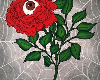 Eyeball Flower Caught 8x11 fine art print