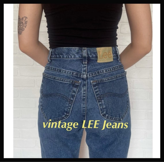 Vintage Women's High Waisted 1980s LEE JEANS - image 1