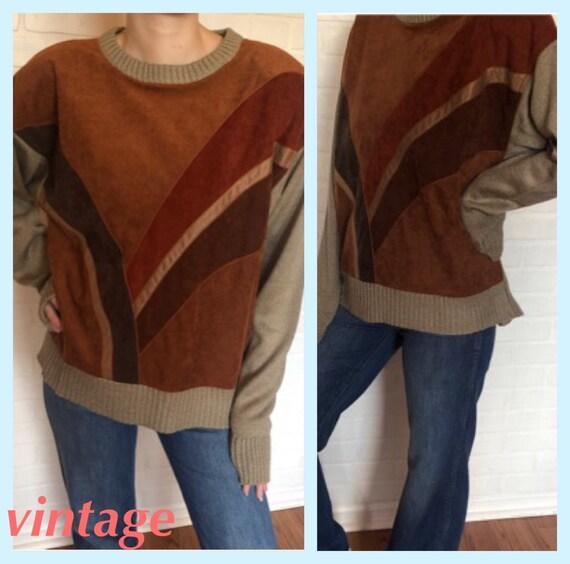 Vintage Patchwork Sweater