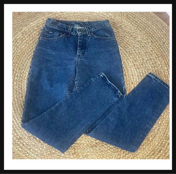 Vintage Women's High Waisted 1980s LEE JEANS - image 6