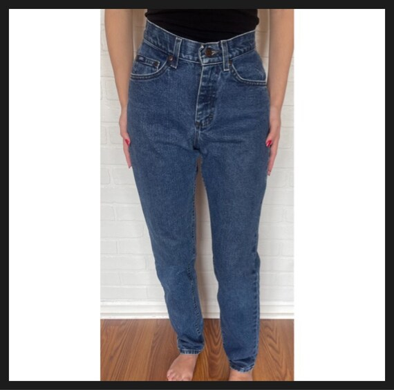 Vintage Women's High Waisted 1980s LEE JEANS - image 4