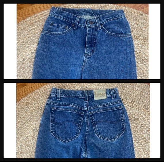 Vintage Women's High Waisted 1980s LEE JEANS - image 7