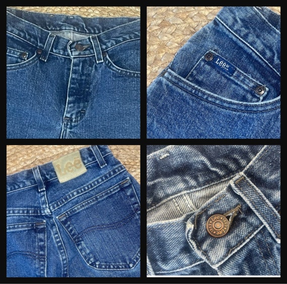 Vintage Women's High Waisted 1980s LEE JEANS - image 8