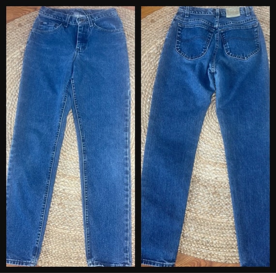 Vintage Women's High Waisted 1980s LEE JEANS - image 5