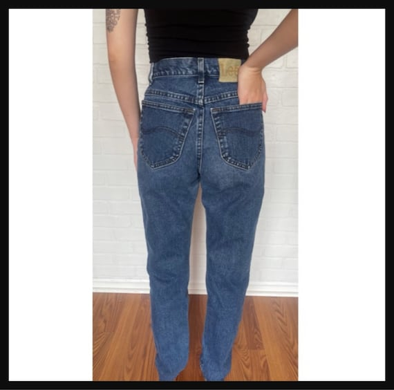 Vintage Women's High Waisted 1980s LEE JEANS - image 3