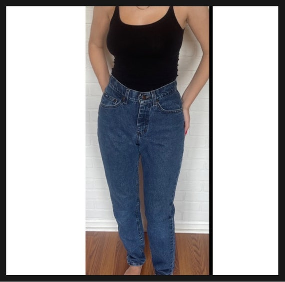 Vintage Women's High Waisted 1980s LEE JEANS - image 2