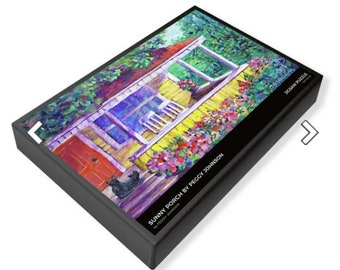 jigsaw puzzle sunny porch old house  peggy johnson everygoodcolor
