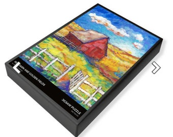 jigsaw puzzle red barn  peggy johnson everygoodcolor