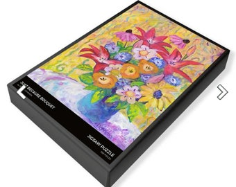 jigsaw puzzle flower bouquet  Peggy Johnson Every Good Color