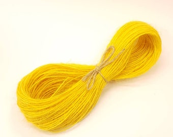 Jute twine cord. Yellow. 10 or 50 metres
