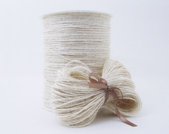 Ivory jute twine. Thin natural cord. 20, 50 or 200 metres