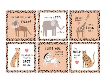Wild Animal Valentine Cards