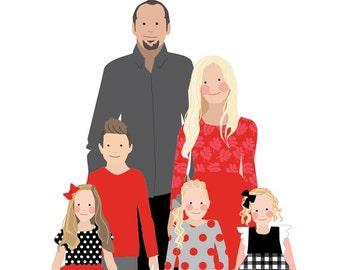 Custom Family Portrait - six people