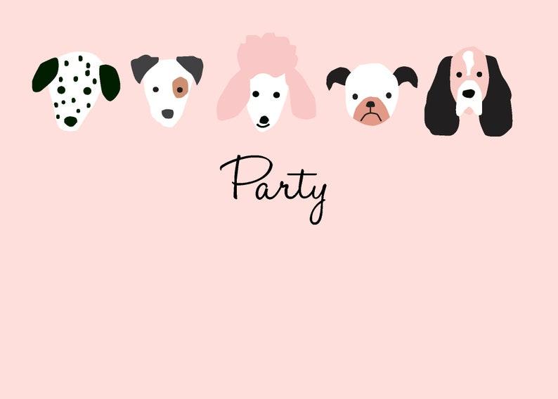 Puppy Birthday Party Invitations image 0