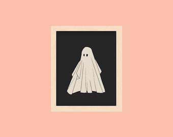 Vintage Halloween Illustration Posters Ghosts