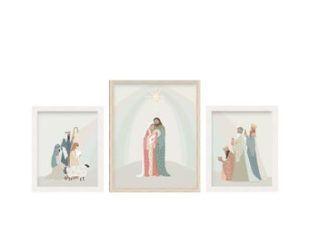 Prince of Peace Christmas Nativity Art -  digital download