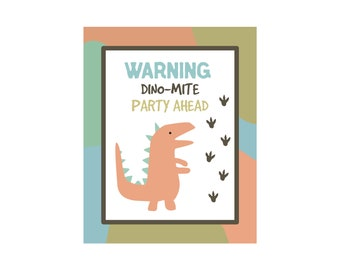 Dinosaur Party Pack - blue green