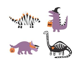Halloween Dinosaur Posters Wall Art