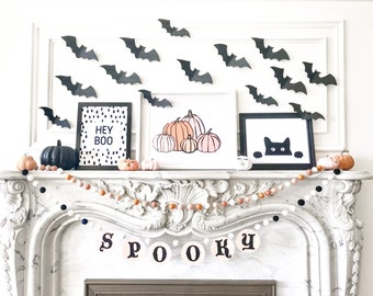 Bat Pattern for Halloween Wall Decor