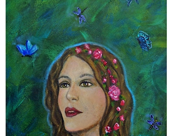 """Original Fine Art 8 by 10 print called """"The Transformation Of Charlotte""""by Charlotte Phillips"""
