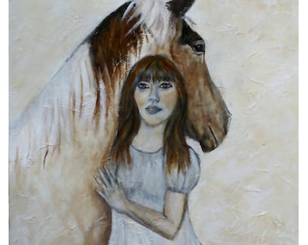 """Original Horse 8 by 10 Print,called """"From This Moment On"""" by Charlotte Phillips"""