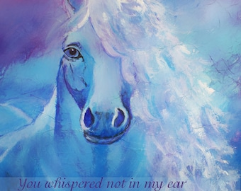 8 by 10 Original Print. Equine, For the Home, Gift For Her, Horse print, Equestrian, Horse Lover, Typography, Girls Room, Inspiration