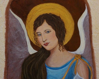 """Original Fine Art 8 by 10 print called """"Samantha An Earth Angel From Italy"""" by Charlotte Phillips"""