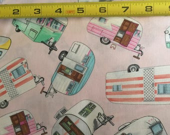 GM large camper toss, pink by Timeless Treasure