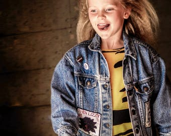 Custom Denim Jacket | Personalised Band Jacket | One of a Kind | Unique Kids Clothing | Customized Gift | Upcycled Jean Jacket | Music Gift
