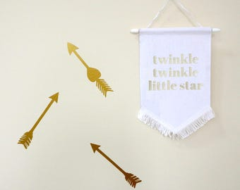 Twinkle Twinkle Little Star Wall Flag Classic | White or Black