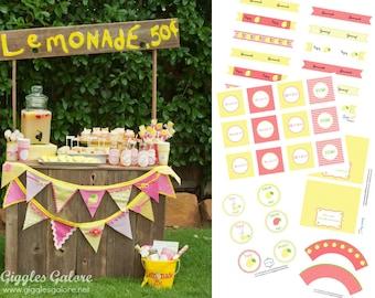 DIY Lemonade Stand Kit Party Printables