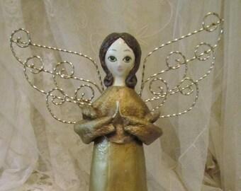 1960's Christmas Angel, Angel With Metal Wings, Japan, RARE