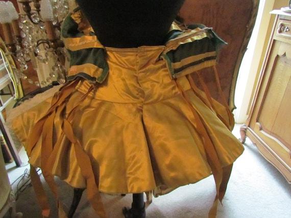 Vintage Gold Satin Ballet, Tap Dance Costume, Tut… - image 5