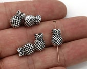 10 Pineapple Spacer Beads Larger Size Beach Boho Tropical Bracelet Charms Jewelry Supplies 13x9mm