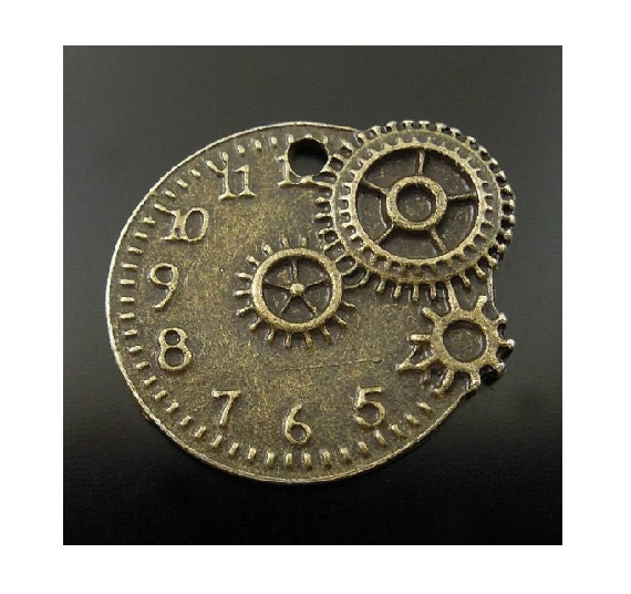 Is Steampunk Jewelry A Craft Or An Art: 6 Small Steampunk Watch Clock Gear Charms For Jewelry Or