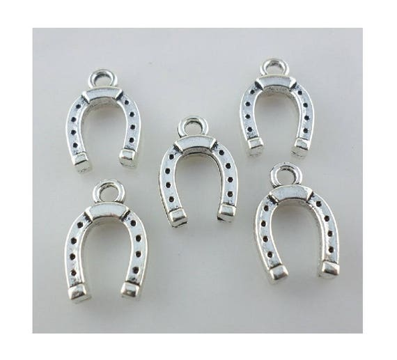 20pcs Horseshoe charms 24x18mm antique silver ornament accessories jewelry making DIY handmade craft base material