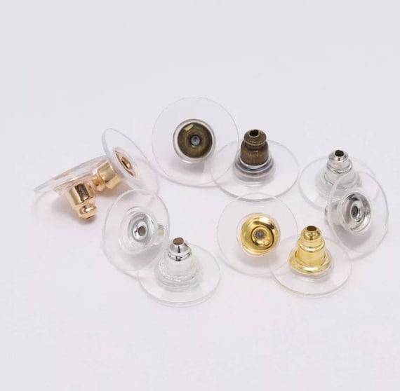 20 50 100 Large Gold Silver Comfort Clutch For Heavy Earrings Earnuts Backs 10