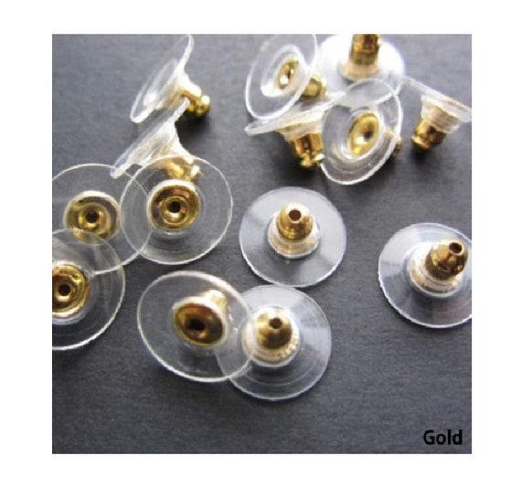 Comfort Pads für Vintage Ohrclips aus weichem Kunststoff 2 Paare 4 Stück NEU!