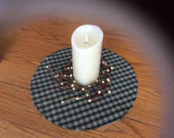 Plaid/checked table mat