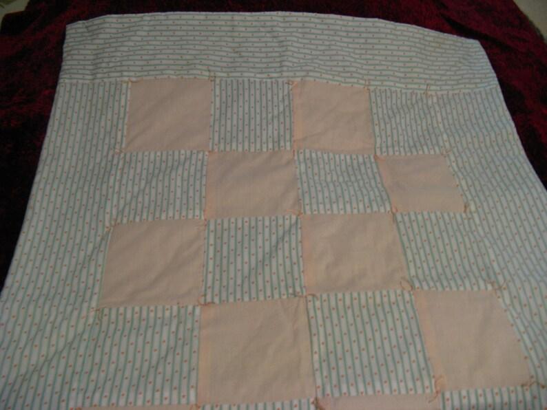 Peach /& Green Baby Quilt