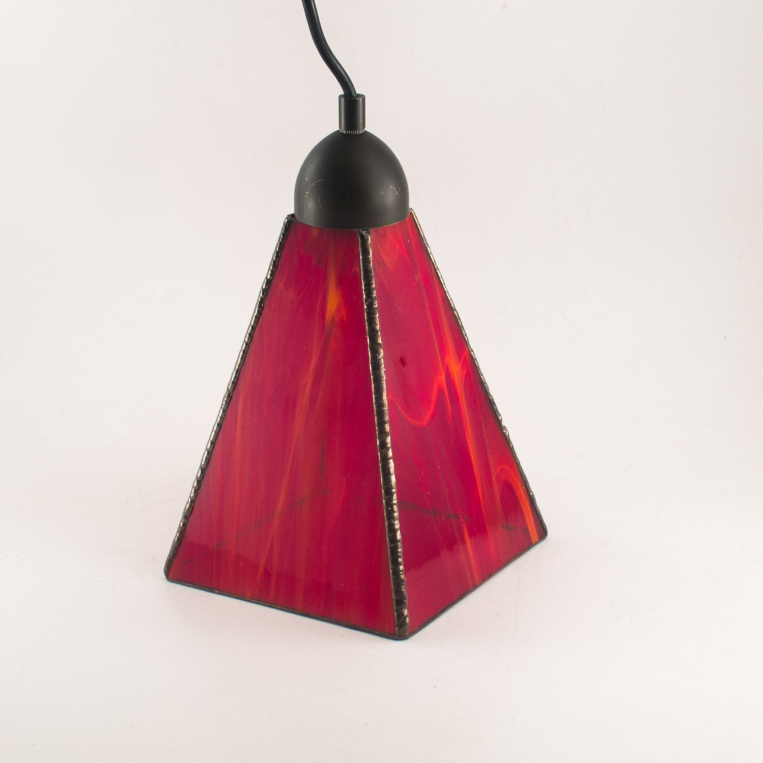 Kitchen Hanging Lamp Red Pendant Light Modern Interior