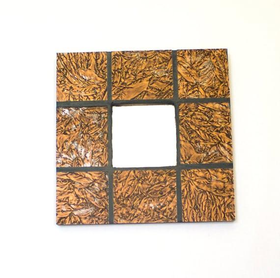 Rustikale Wand Spiegel Kleine Dekorative Spiegel Gebeizt Etsy