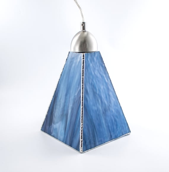 Stained Glass Pendant Light Unique Ceiling Fixture Glass Shade Kitchen Island Lighting Hanging Lamp Stain Glass Blue And Purple