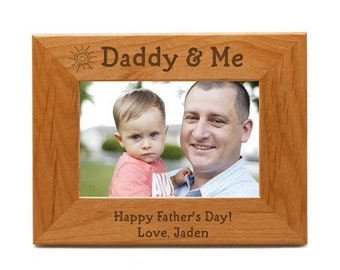 Engraved Daddy & Me Wooden Photo Frame