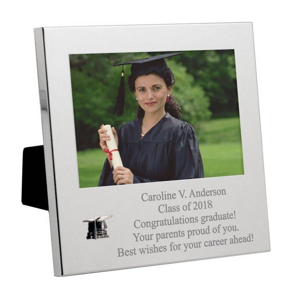 Engraved Silver Graduation Message Frame | Etsy