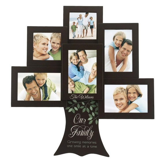 Engraved Personalized Family Tree Photo Collage Frame Etsy